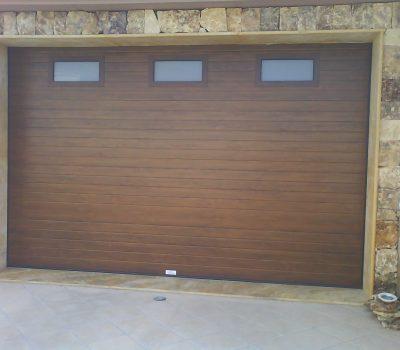 Panel acanalado madera